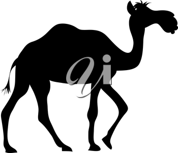 Clip Art Image of a Camel Silhouette