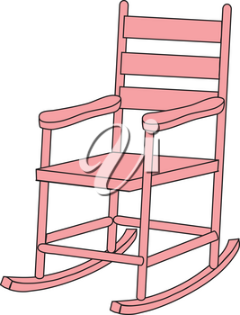 Royalty Free Clipart Illustration of a Pink Rocking Chair