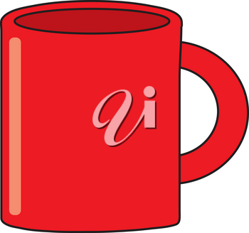 Royalty Free Clipart Illustration of a Red Coffee Mug
