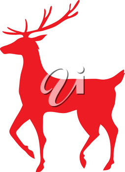 Royalty Free Clipart Illustration of a Silhouette of a Reindeer