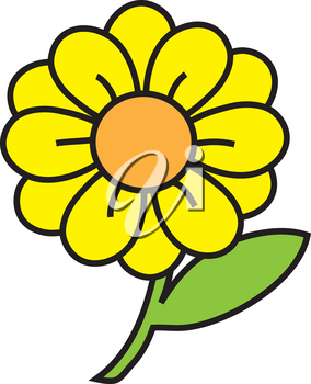 Clipart Illustration of a Flower
