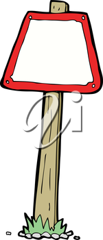 Royalty Free Clipart Image of a Road Sign