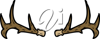 Royalty Free Clipart Image of Antlers