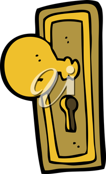 Royalty Free Clipart Image of a Door Knob