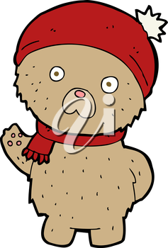 Royalty Free Clipart Image of a Teddy Bear