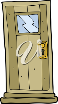 Royalty Free Clipart Image of a Door