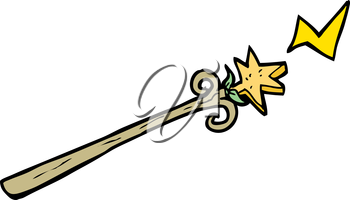 Royalty Free Clipart Image of a magic Wand