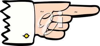 Royalty Free Clipart Image of a Pointing Hand