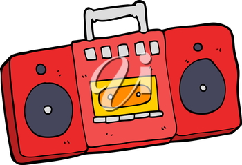 Royalty Free Clipart Image of a Cassette Player
