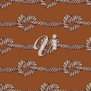 Knot seamless pattern in vintage style, vector