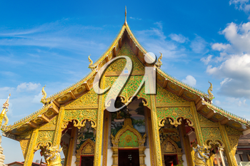 Wat Loi Khro - Buddhists temple in Chiang Mai, Thailand in a summer day