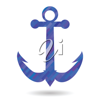 colorful illustration with anchor icon on a white background