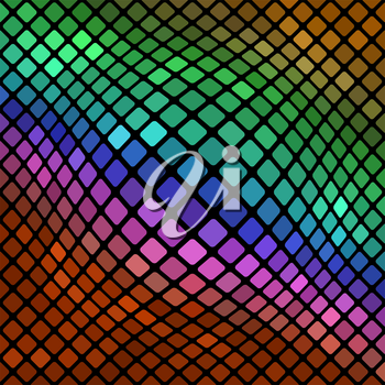 Colorful Square Pattern. Abstract Colored Square Background
