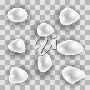 River White Pearl Set Isolated on Checkered Background