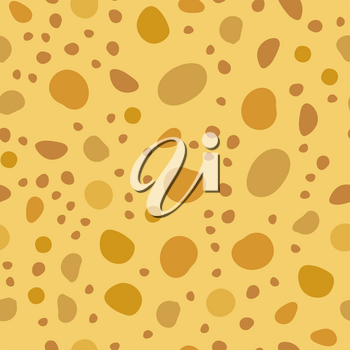 Tasty Cheese Seamless Pattern. Yellow Food Backround. Made from Cows Milk. Natural Product.