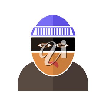 Gangster Icon Isolated on White Background. Flat Design
