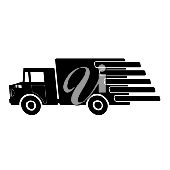Truck Delivery Icon Isolated on White Background.