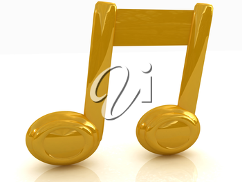 Music note on a white background