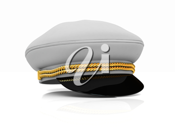 Marine cap on a white background