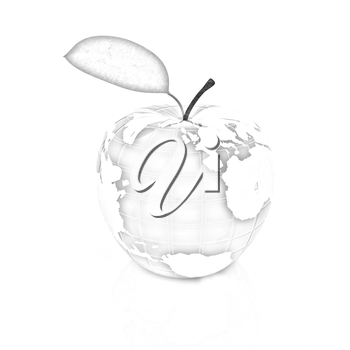 Apple for earth on a white background