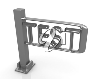 Test with turnstile on a white background