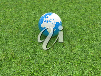 earth on a green grass