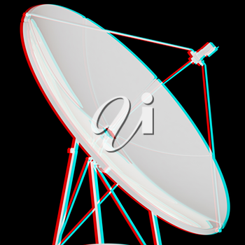 . 3D illustration. Anaglyph. View with red/cyan glasses to see in 3D.