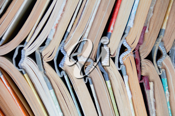 Image of stack old hardcover bound books