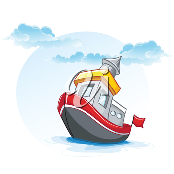 Royalty Free Clipart Image of a Little Boat