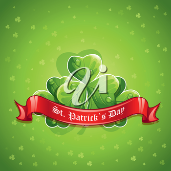 Royalty Free Clipart Image of a Saint Patrick's Day Background