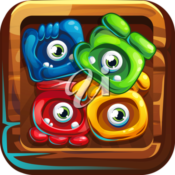 Icon jungle shamans for computer game