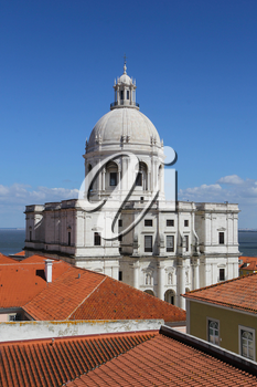 National Pantheon (the Church of Santa Engracia) in Lisbon, Portugal.