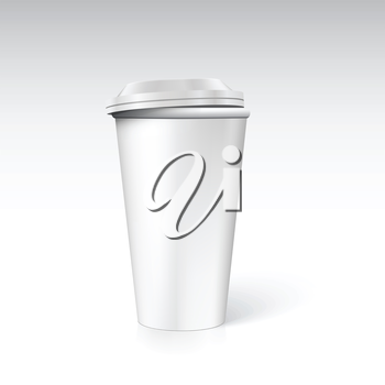 Photorealistic coffee cup  for advertising and branding