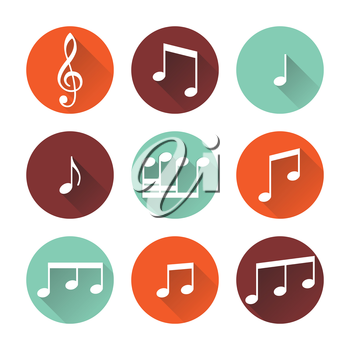 Music buttons isolated on white background. Vector illustration.