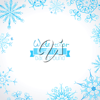 Hand-drawn ornate snowflakes for your Christmas design. There is place for your text in the center.