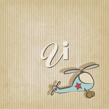 retro background with helicopter - vector illustration. eps 10
