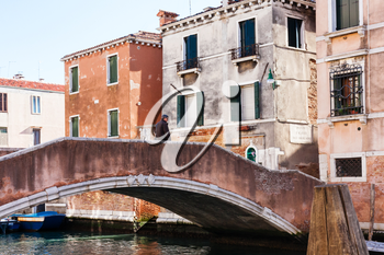 travel to Italy - brigde in Cannaregio sestieri (district) in Venice city