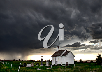 Prairie Storm Clouds Canada Saskatchewan Summer Country Church