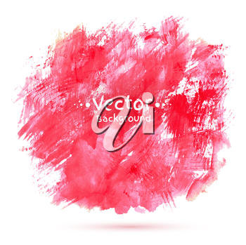 Abstract vector watercolor background. Isolated.