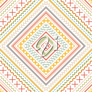 High detailed stitches. Ethnic boundless texture. Can be used for web page backgrounds, wallpapers, wrapping papers and invitations.