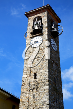 besnate old abstract in  italy   the   wall  and church tower bell sunny day