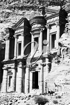 the antique site of petra in jordan the monastery  beautiful wonder of the world
