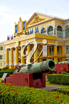 cannon bangkok in thailand   architecture  garden and temple steet