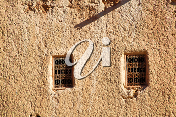 moroccan old wall and brick in antique city