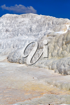 unique abstract in pamukkale turkey asia the old calcium bath and travertine water