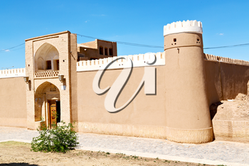 in iran antique palace and  caravanserai old contruction for travel people