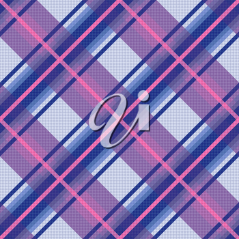 Seamless diagonal vector colorful pattern mainly in violet, blue and pink colors