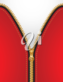 zipper background with copy space