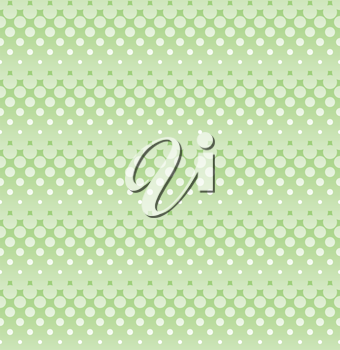 Ligh green halftone seamless pattern for web design. Tileable stripped vector wallpaper background with halftone dots.