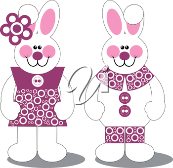 Royalty Free Clipart Image of a Bunny